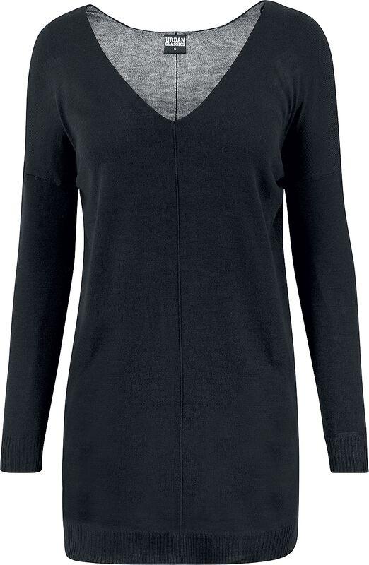 Fine Knit Oversize V-Neck Sweater svetari