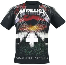 Scary Guy Metallica T-paita. Master Of Puppets - Faded Allover 4ec66bb280