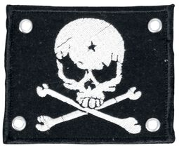 Patch with White Skull and Crossbones