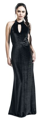 Eleanor Velvet Halterneck 50's Evening Dress