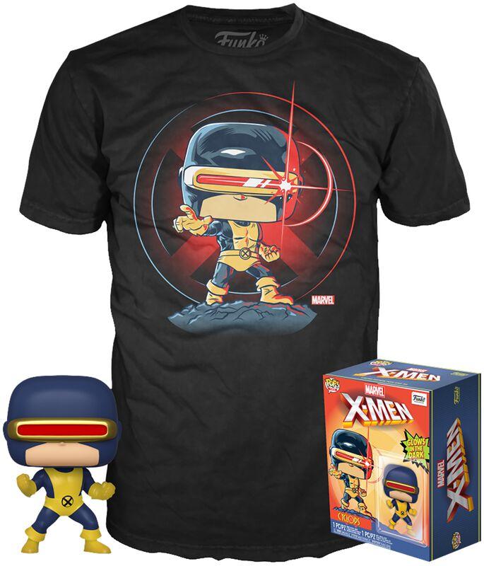 80th - First Appearance - Cyclops - POP!-figuuri & T-paita