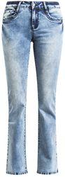 Naisten valkaistut Grace-farkut (boot-cut naisten farkut)