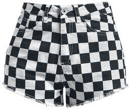 Ladies Check Twill Hot Pants shortsit
