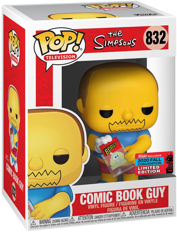 NYCC 2020 - Comic Book Guy Vinyl Figure 832 (figuuri)