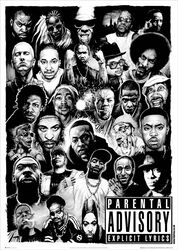 Rap Gods Black & White