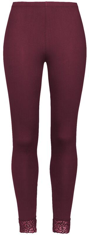 Punaiset Black Premium -leggingsit pitsiresoreilla