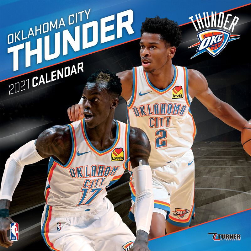 Oklahoma City Thunder - Calendar 2021