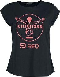 RED X CHIEMSEE - musta T-paita painatuksella