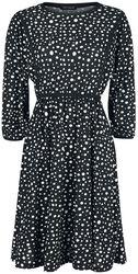 Dot Print Tiered Waist Midi Dress