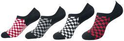 Recycled Yarn Check Invisible Socks sukat (4 parin setti)