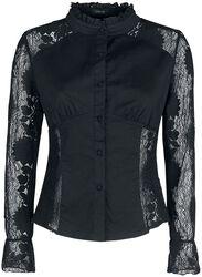 Musta paita läpinäkyvällä pitsillä
