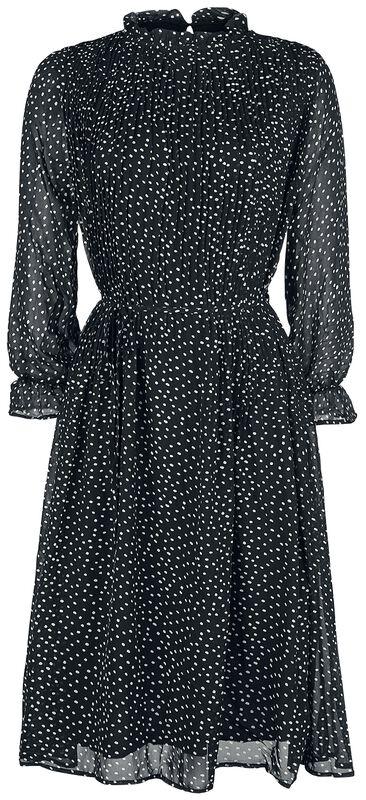 Polka Dot Half Pleat Midi Swing Dress
