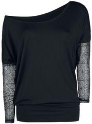 Naisten paita verkkohihoilla