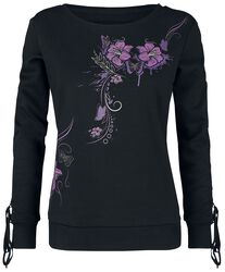 Corded Longsleeve With Floral Print