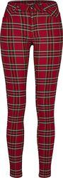 Ladies Skinny Tartan Pants kangashousut