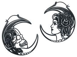 Skull Head Couple Hoops Pairs