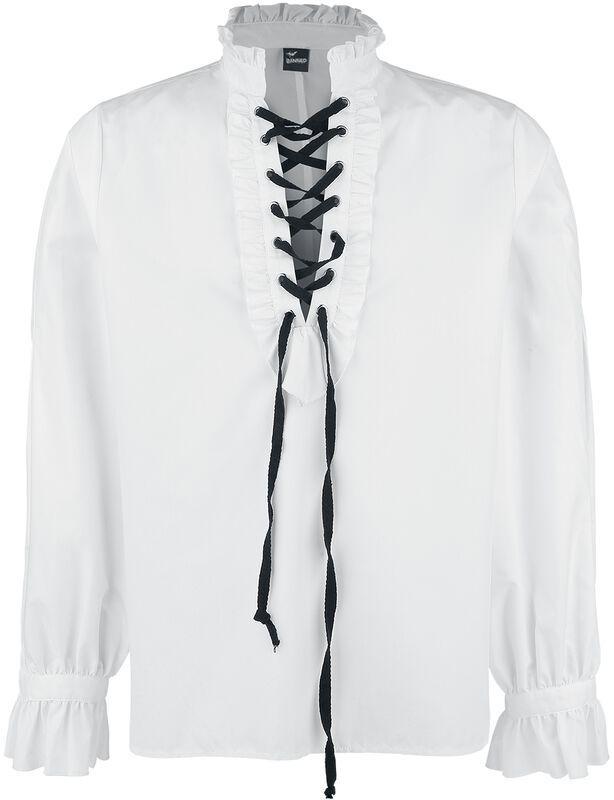 Ruffled Shirt With Lacing