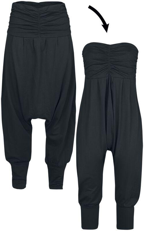 2 in 1: Haaremihousut ja jumpsuit-haalari