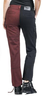 Dual-Coloured Cargo Trousers