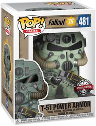 76 - T-51 Power Armor Vinyl Figure 481 (figuuri)