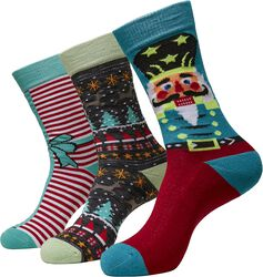 Christmas Nutcracker Socks sukat - 3 kpl setti