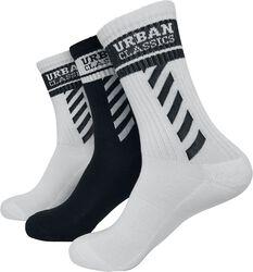 Sporty Logo Socks 3-Pack