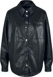 Ladies Faux Leather Overshirt keinonahkapusero