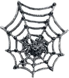 Spider's Web Brooch with Spider