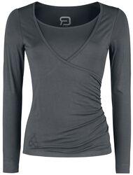 Liikunta ja jooga - Harmaa pitkähihainen kietaisumallinen paita