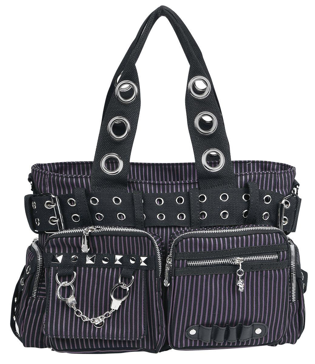 Osta Käsilaukku : Rockabilly k?silaukku osta mad to the max studded bag k