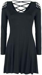 Musta mekko koristenyöreillä