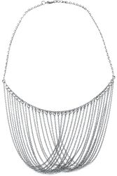 Grey Necklace with Long Chains