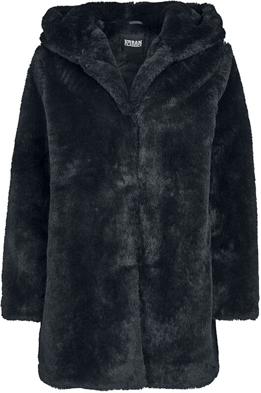 Ladies Hooded Teddy Coat päällystakki