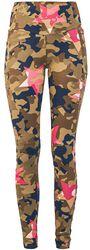 Leggings mit Allover- Camouflage- Star Print