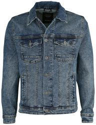 Deep Blue Slim Fit Denim Jacket