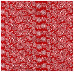 Punainen paisley-huivi