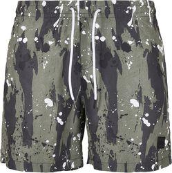 White Dot Camo AOP Swim Shorts