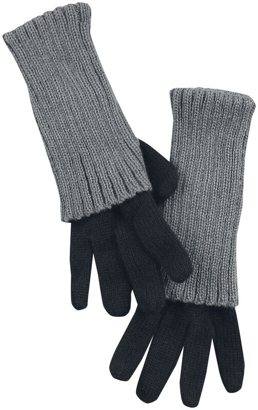 Knitted Gloves With Cuff And Thumb Hole