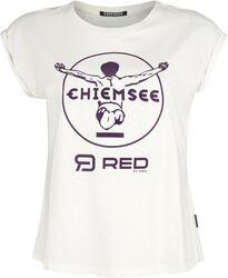 RED X CHIEMSEE - valkoinen T-paita painatuksella