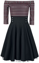 Triple Stripes Carmen Dress