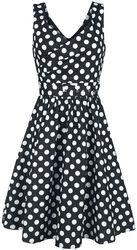May Stylish V-Neck Polka Swing Dress