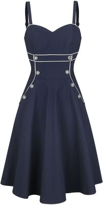 Claudia Nautical Flared Dress